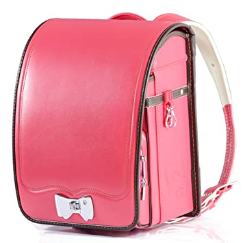 4c39a26ac3a2 Ransel Randoseru upscale prince princess Japanese school bags for girls and  boys 2018 new … (rose red)