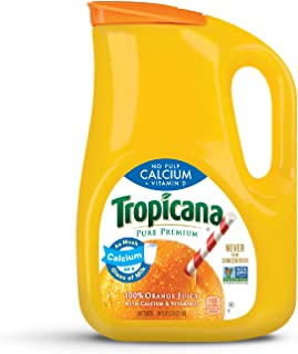product image for Tropicana, Orange Juice with Calcium + Vitamin D, No Pulp, 89 oz