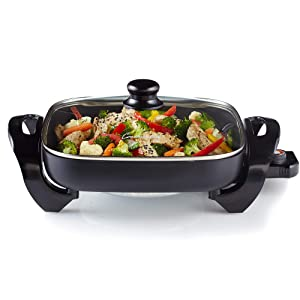 Continental Electric CE23741 Electric Skillet 12-Inch Black