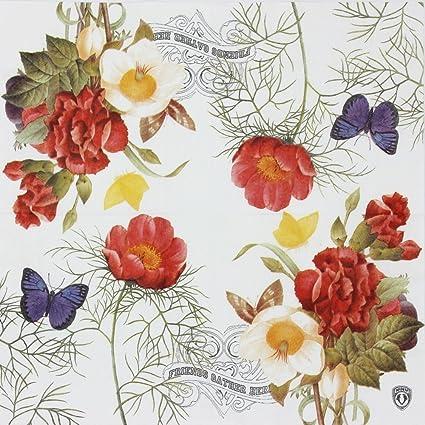 Paper Napkins Butterflies Vintage Flowers Cute Party Decoupage 4 or 20 Napkins