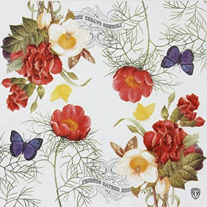 luncheon napkins alink designer vintage paper napkins serviettes printing flowers butterfly for weeding dinner