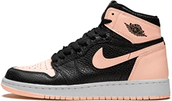 newest 2e1db 8102d Jordan Air 1 Retro High OG GS (Black Crimson Tint-White, 6.5