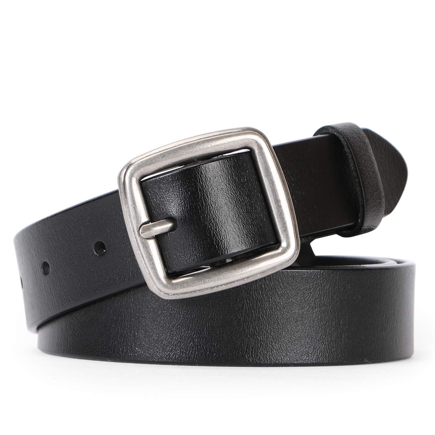 Women Leather Belt Vintage Casual Ladies Belts for Jeans Pants Square Buckle Belt For Women By JASGOOD