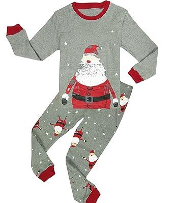 Amazon.com: Boys Christmas Pajamas Big And Little Boys Pjs Cotton ...