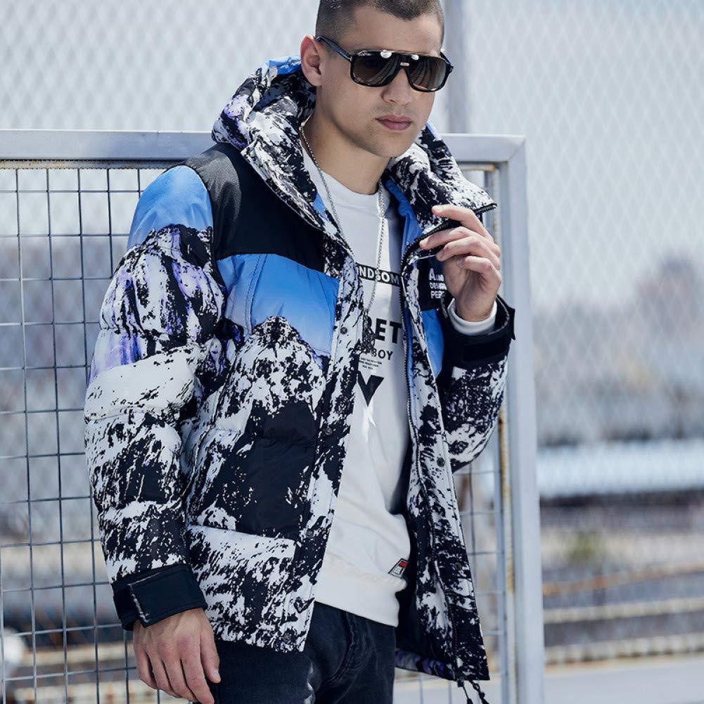 MDLJY Veste Hiver Veste Hommes Vêtements Manteau Hommes À Capuche Parka Épaisse Chaud Neige Parkas Manteau Veste d'hiver pour Moi Snow color