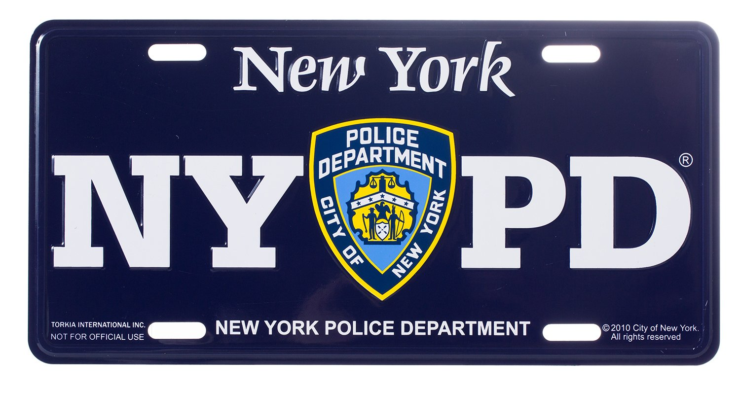 Official New York Police Department Merchandise Artisan Owl NYPD Novelty Souvenir License Plate