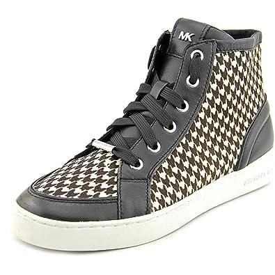 33b36a51e3 Amazon.com | Michael Kors Keaton High Top Sneakers, Black, Size 7.5 ...