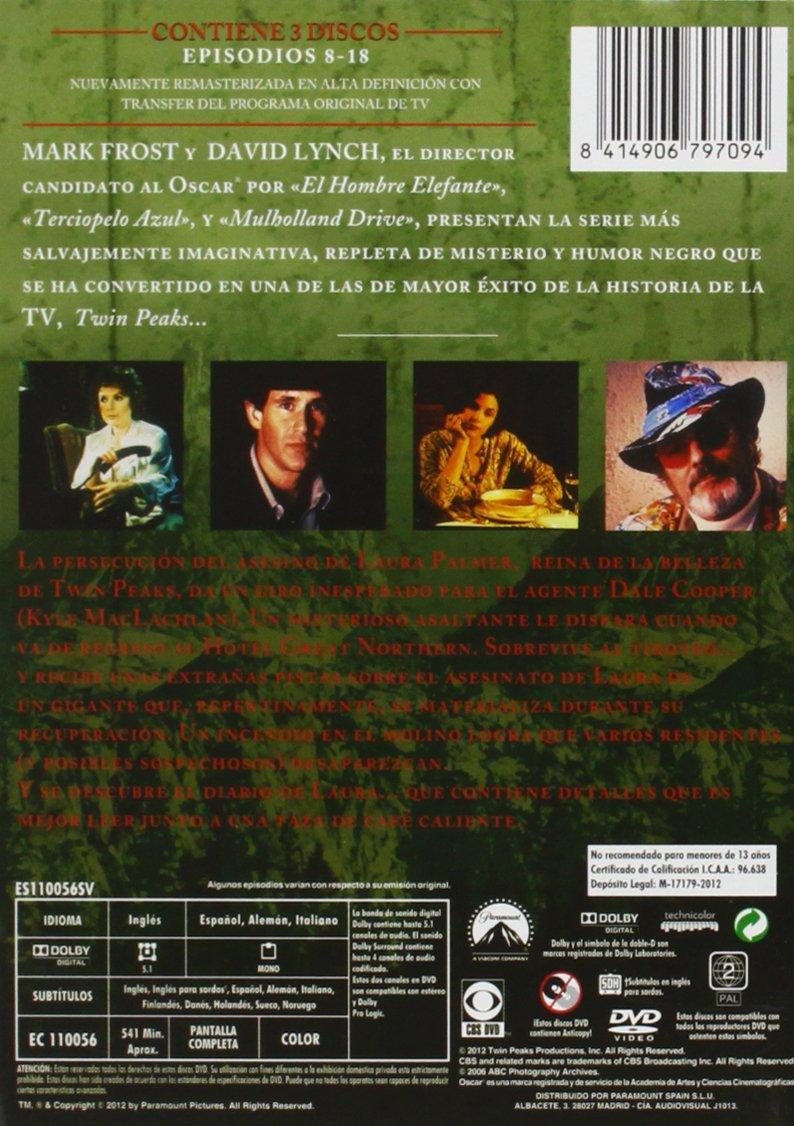 Twin Peaks - Temporada 2.1 (Repackaging) [DVD]: Amazon.es: Kyle MacLachlan, Michael Ontkean, Joan Chen, Piper Laurie, Ray Wise, Dana Ashbrook, Duwayne Dunham, Kyle MacLachlan, Michael Ontkean, David Lynch, Mark Frost: Cine y
