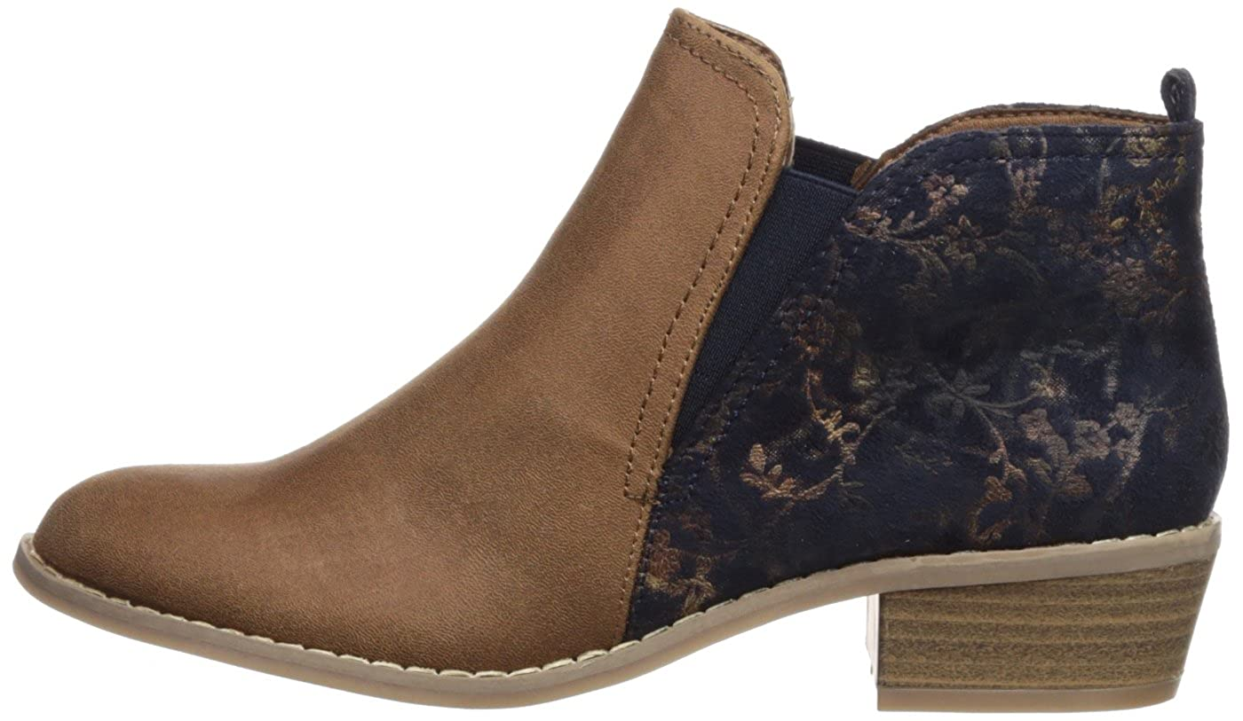Rampage Womens Saddie Chelsea Boot Camel//Navy Fabric 9.5 Medium US