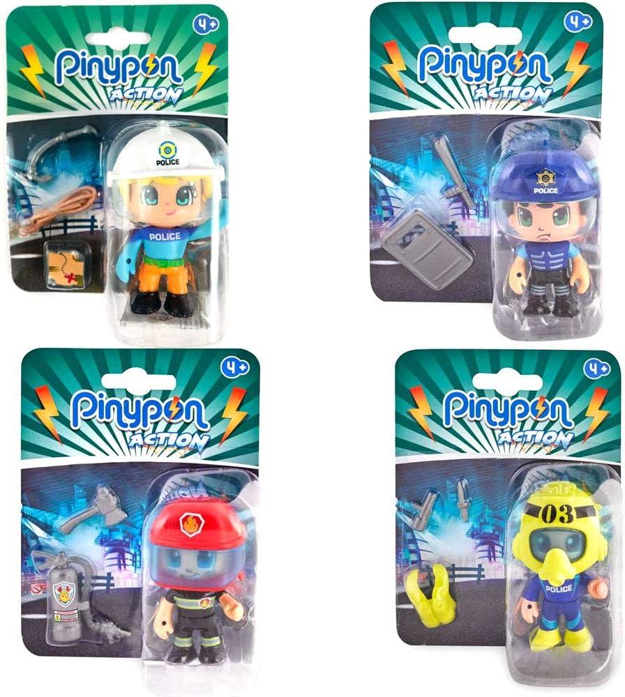 Pack 4 Pinypon Action Chico Escalador, Submarinista, Policía ...