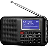 Raddy RF28 Portable FM Pocket Radio Speaker MP3 USB Music Player, Digital Tuning with Flashlight, Sleep Timer, Support…