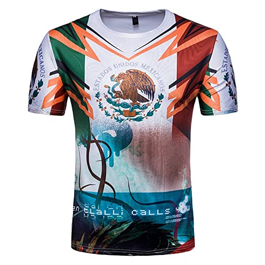 c39a13769 FIFA World Cup Russia 2018 Football Fans Short Sleeve T-Shirt (Mexico