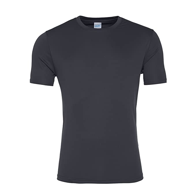 AWDis Just Cool Herren Smooth Kurzarm T-Shirt (3XL) (Anthrazit)