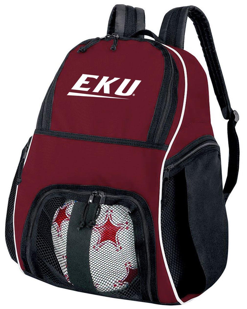 EKUサッカーバックパックまたはEastern Kentucky Universityバレーボールバッグマルーン   B07FDMH7X4