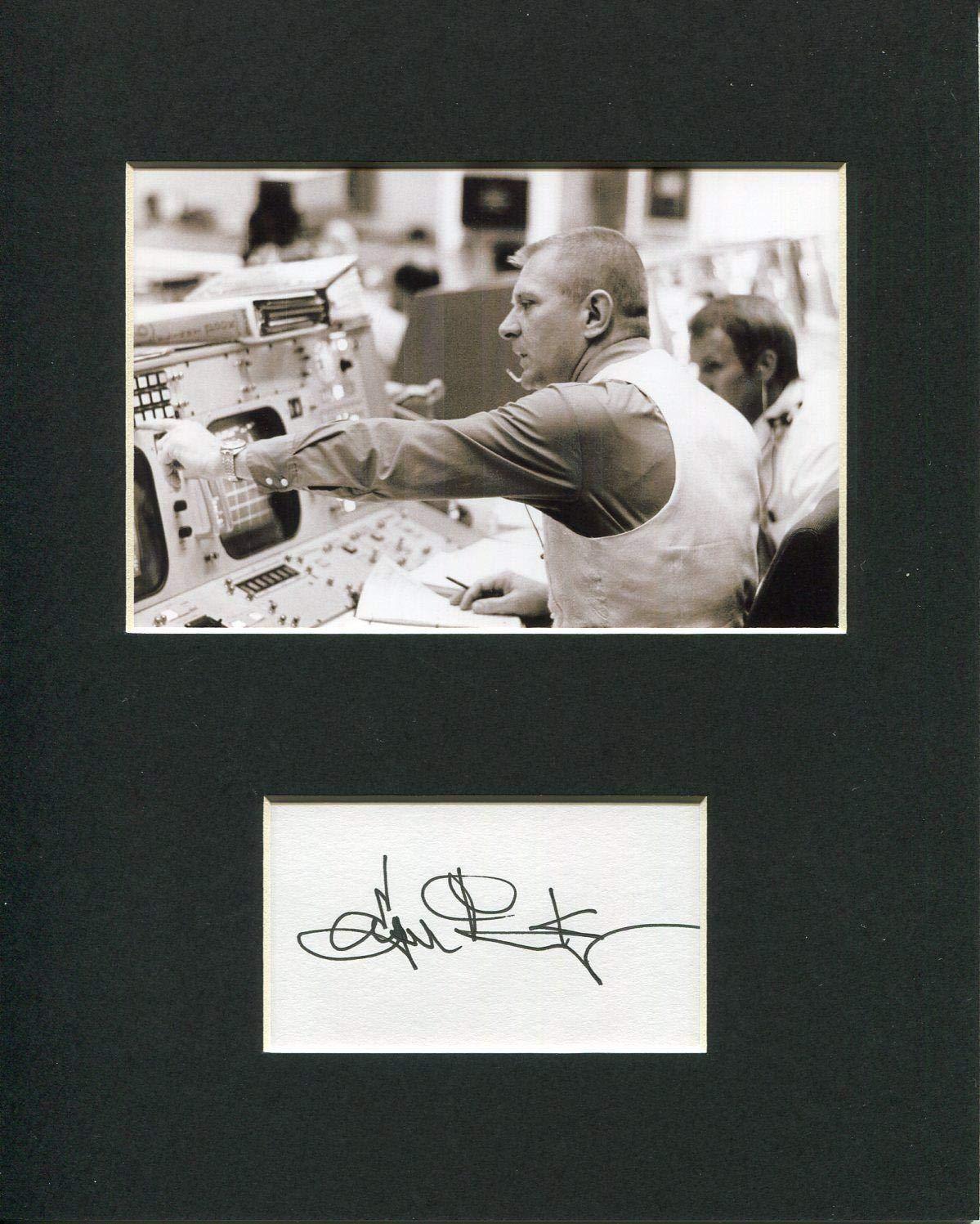 Eugene Gene Kranz NASA Flight Director Space Signed Autograph Rare Photo Display HollywoodMemorabilia