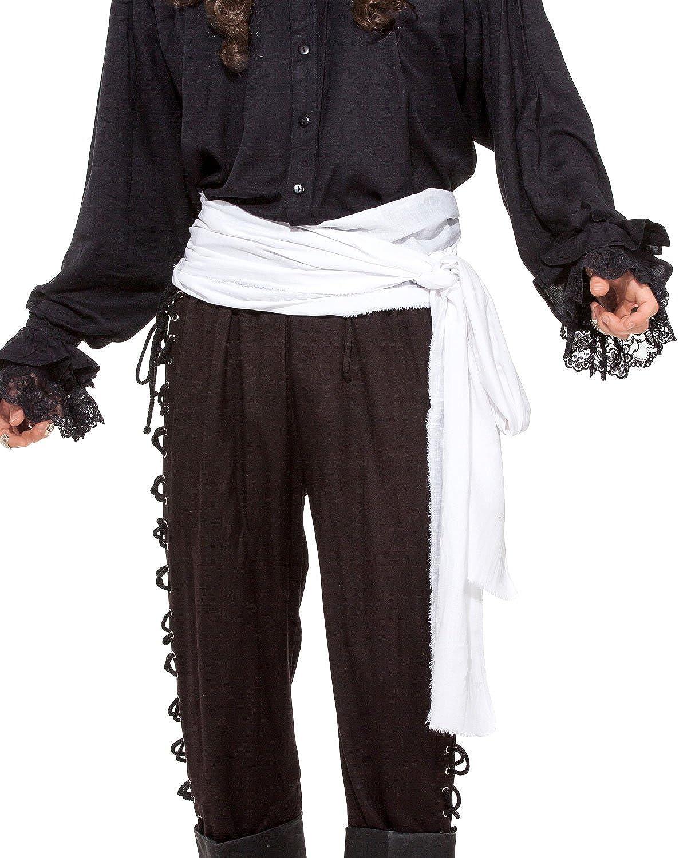 Large White Linen Pirate Sash