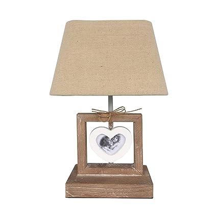 Rebecca Mobili Bedside Table Lamp Abat Jour 1 Photo Frame Wood