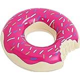 Floatie Kings: Huge Pink Donut Pool Float Inner Tube, Huge - Strawberry Sprinkles (Inflatables, Doughnut Float)