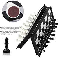 YAMAMA Folding Chess Board Game Standard Material and Smooth Surface Magnetic Chess Board Black and White for All Age…