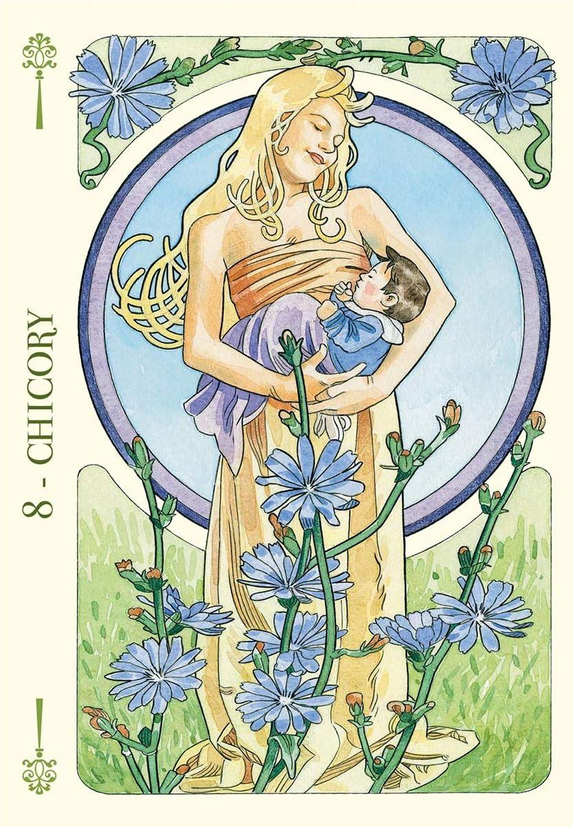 YMFZYM Flowers Oracle Card 36 Piezas de Tarjetas de Juegos de Mesa para aclaraciones y lecturas complementarias Tarot Decks