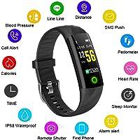 Montre Connectée LIGE étanche écran Couleur Bracelet Intelligent Moniteur de Sommeil Moniteur de fréquence Cardiaque Compteur de Calories Pédomètre Hommes et Femmes Bracelet Sport pour Android iOS