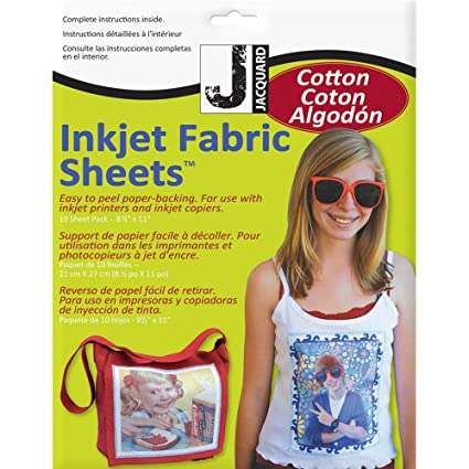 photo relating to Printable Fabric Paper named Jacquard Ink Jet Material 8.5 x 11 Cotton Sheets (10 Pack)