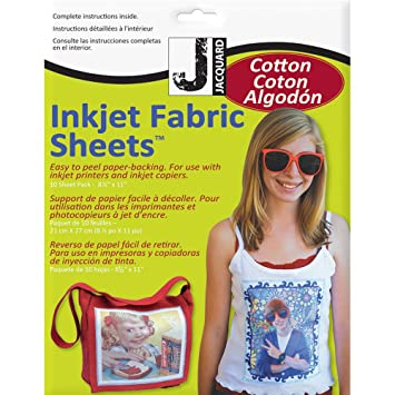 picture regarding Printable Fabric Roll known as Jacquard Ink Jet Material 8.5 x 11 Cotton Sheets (10 Pack)