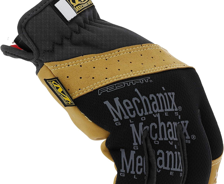 XX-Grande, Negro // Marr/ón Material4X Guantes FastFit Mechanix Wear