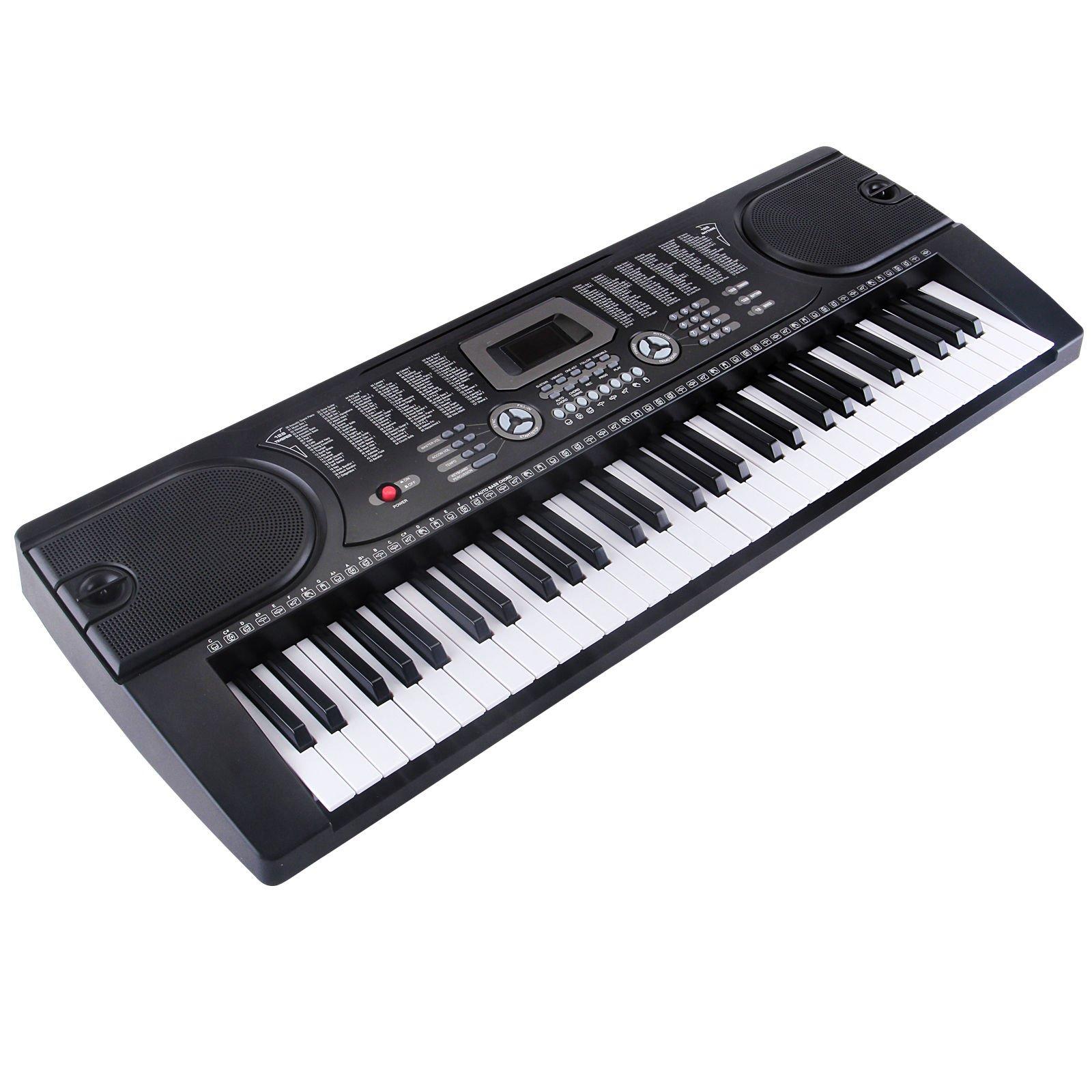 Keyboard Electronic Digital Music Piano Organ 61 Keys Mic Musical w/Microphone