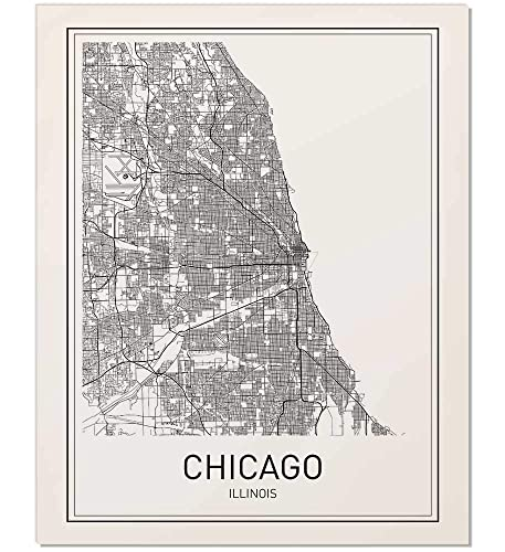 City Map Prints Amazon.com: Chicago Print, Chicago Map, City Maps, Map Print, Map