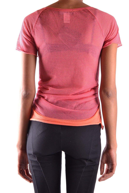 Fabrizio Del Carlo Womens MCBI15861 Fuchsia Cotton T-Shirt