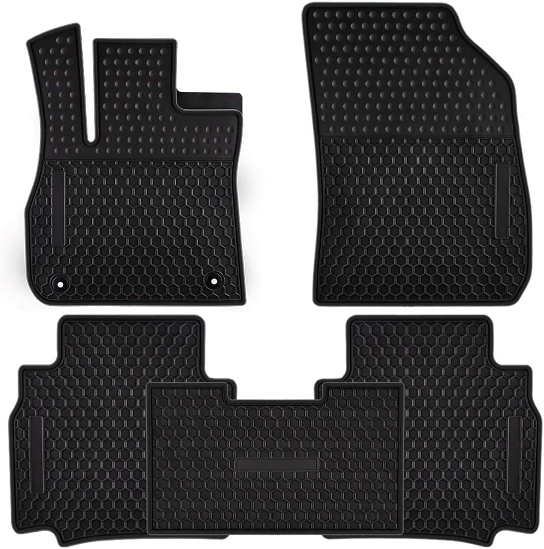 Ucaskin Car Floor Mats Custom Fit for Buick Lacrosse 2017 2018 2019 Odorless Washable Rubber Foot Carpet Heavy Duty Anti-Slip All Weather Protection Car Floor Liner Black