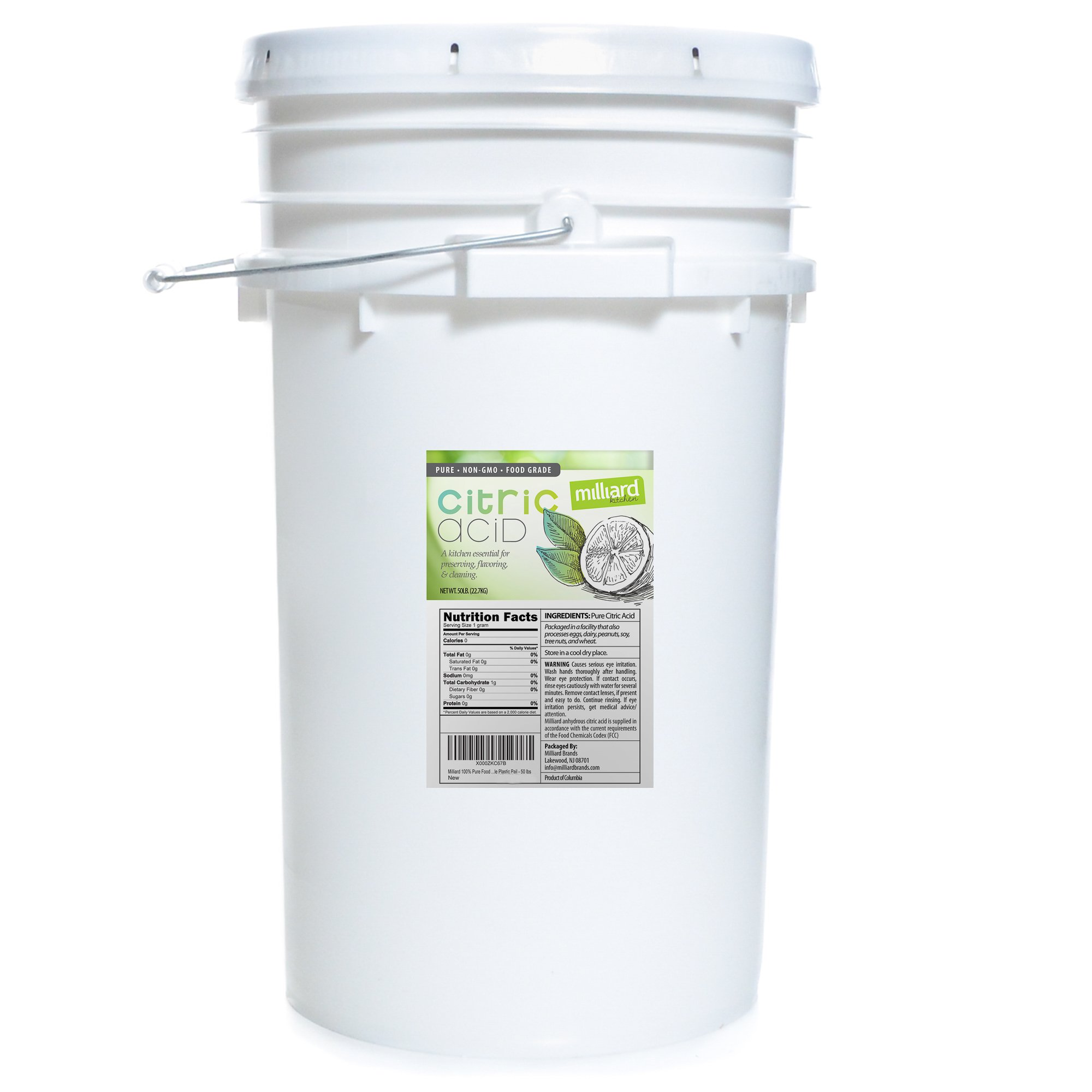 Milliard Citric Acid 50 Pound PAIL - 100% Pure Food Grade NON-GMO Project VERIFIED (50 Pound) by Milliard (Image #2)