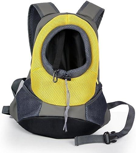 LUCKSTAR Breathable Double Shoulder Dog Pet Puppy Bags Backpack Knapsack Cat Carrier Packsack Travelling Pet Holder Bag Yellow