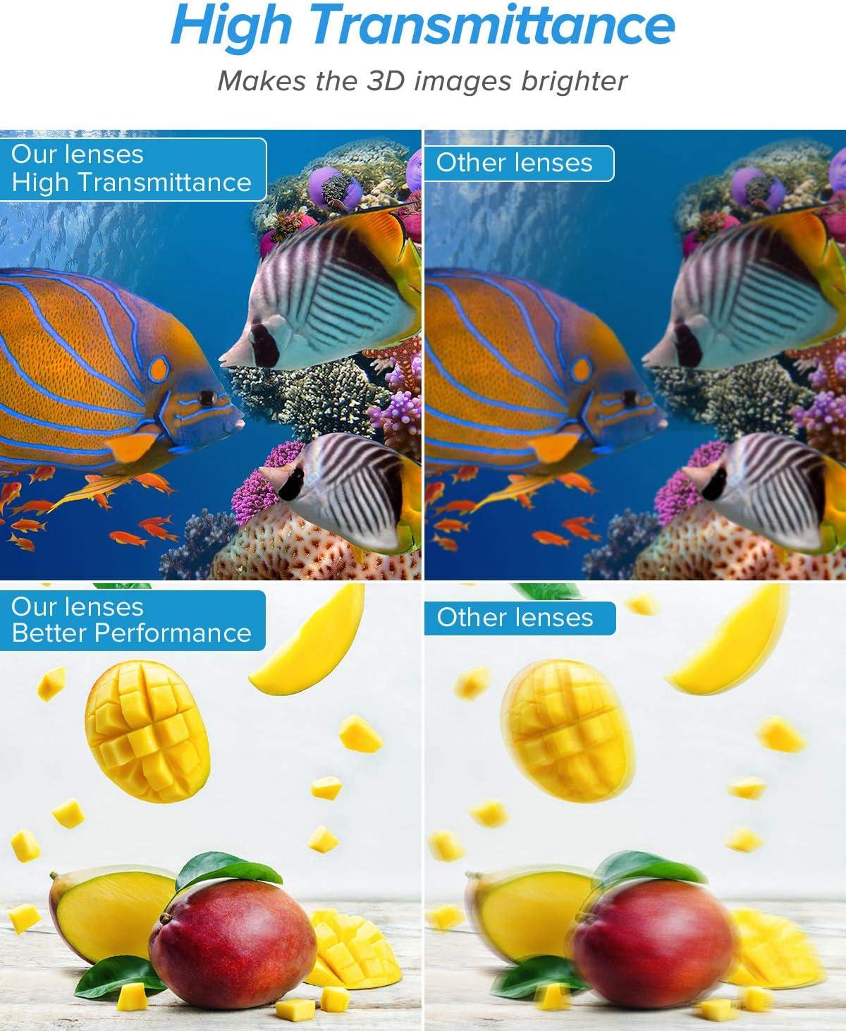 Compatible with Acer BenQ 4 Pack Rechargeable 3D Active Active Shutter Glasses for 3D DLP Projectors ViewSonic Vivitek Panasonic Dell Optoma Viewsonic Elikliv 144 Hz DLP Link 3D Glasses
