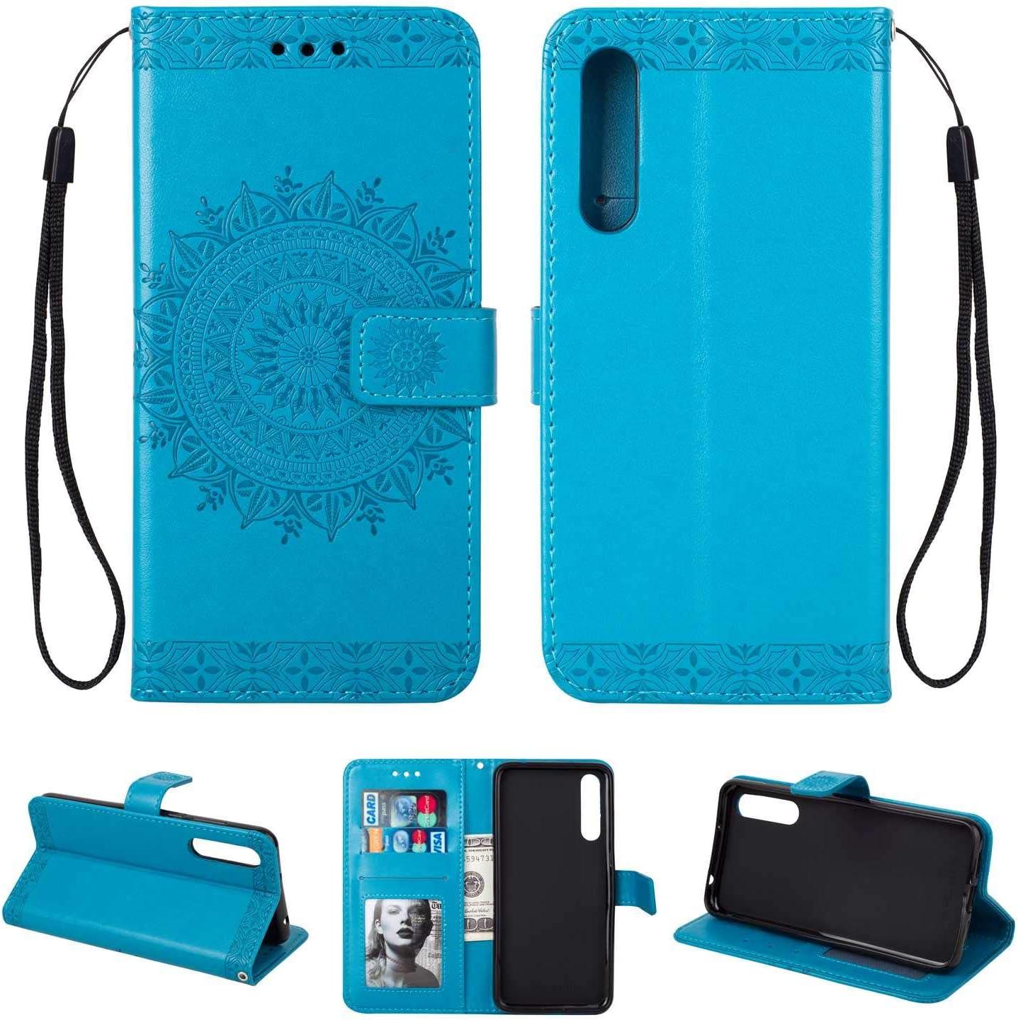 Rose Coque Huawei P20 Pro SONWO Gaufrage Mandala Motif Housse Cuir PU Flip Portefeuille Etui avec Portable Dragonne et Carte de Cr/édit Slot pour Huawei P20 Pro