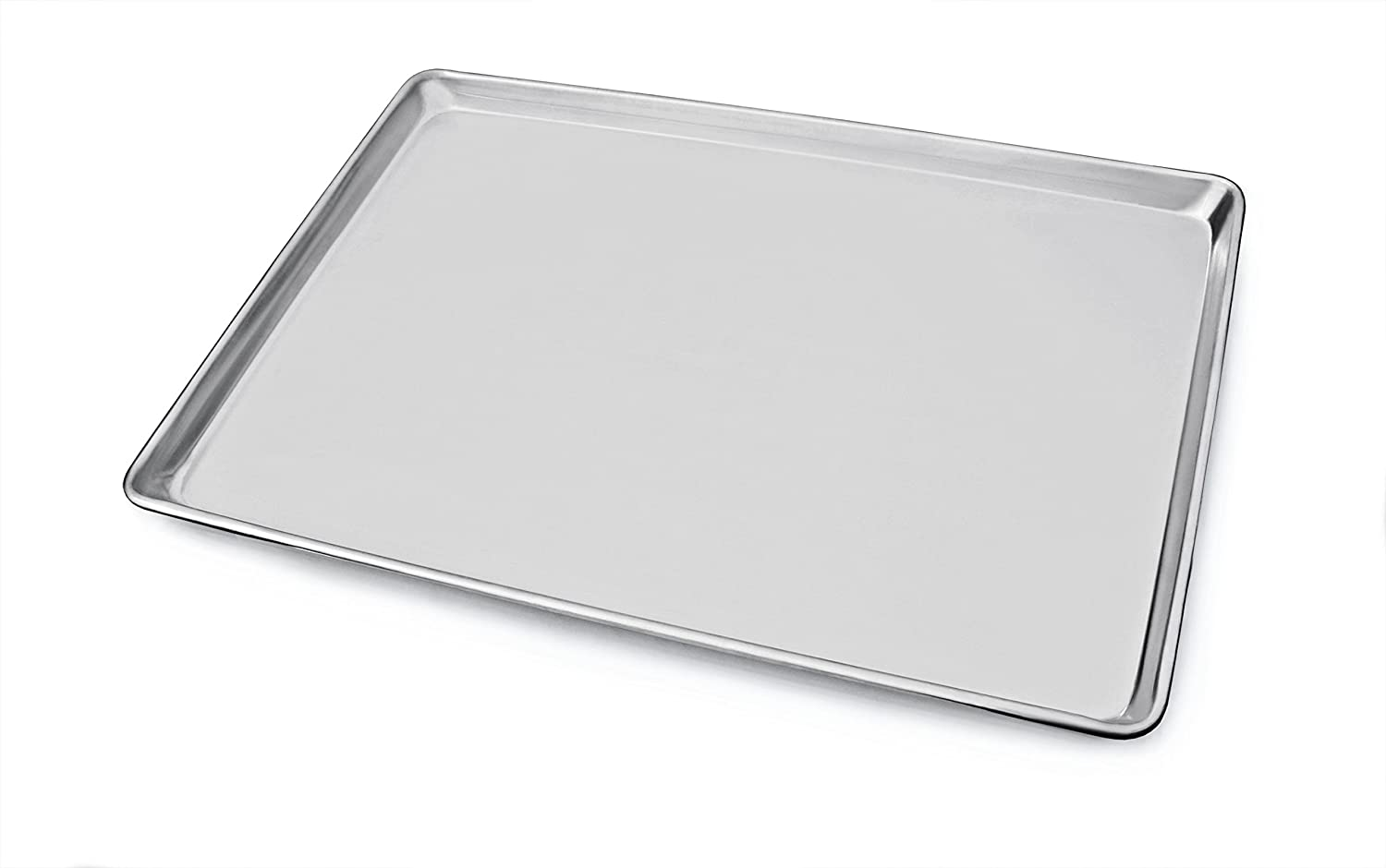 "New Star Foodservice 36923 Commercial-Grade 18-Gauge Aluminum Sheet Pan/Bun Pan, 18"" L x 26"" W x 1"" H (Full Size) 