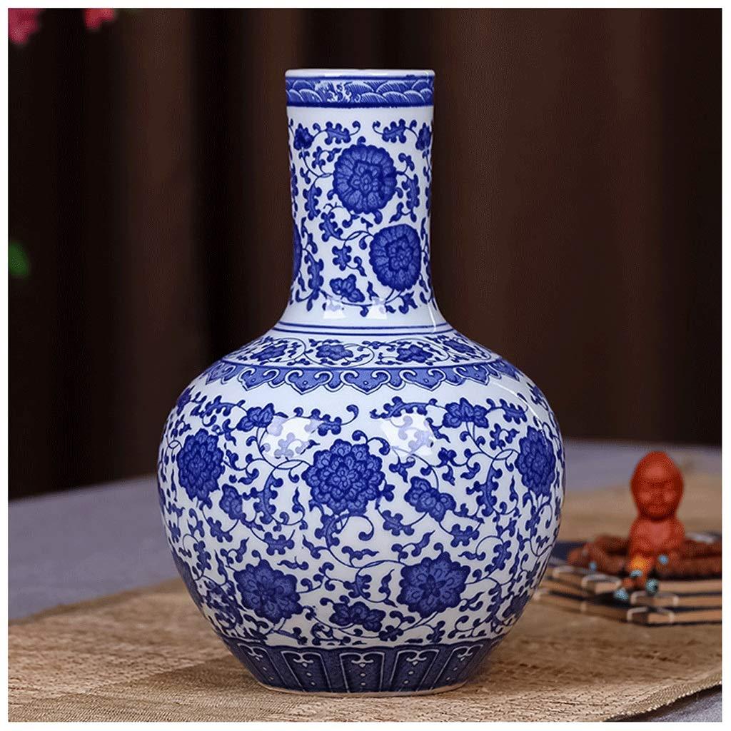 Unbekannt Keramikvase Alte Blaue Und Weiße Porzellan Reiches Bambus Wohnzimmer TV Kabinett Dekoration Chinesische Home Office Desktop Dekoration ZHAOJING (Farbe : A)