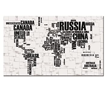 Amazon large size 24x40 map canvas wall art map poster prints large size 24quotx40quot map canvas wall art map poster printswell designed gumiabroncs Images