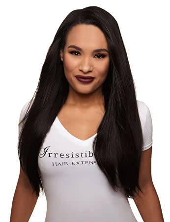 Amazon irresistible me 1 piece clip in hair extensions irresistible me 1 piece clip in hair extensions natural black color 1b pmusecretfo Choice Image