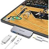 [iPad Pro 2018/Microsoft Surface Go対応タイプCハブ]USB-Cハブ 変換アダプタ USB3.0ドッキングステーション モバイルPro PD急速充電 4K高解像HDMI TypeC ドライバー不要 Hommie