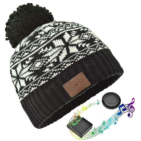 JIANYIJIA Musica Cappello Cuffia,Bluetooth Beanie Berretto Corsa con  costruito in Stereo Wireless Cuffia bb078f72f518