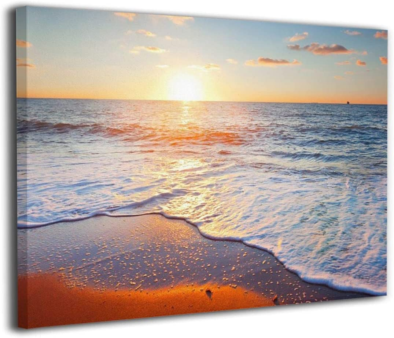 Derrick Amanda 日の出 朝日 海 浜辺玄 アートパネル インテリアアート アートフレーム 壁アート 額縁なし ポスター 部屋飾り ウォールアート 壁飾り 壁絵 モダン