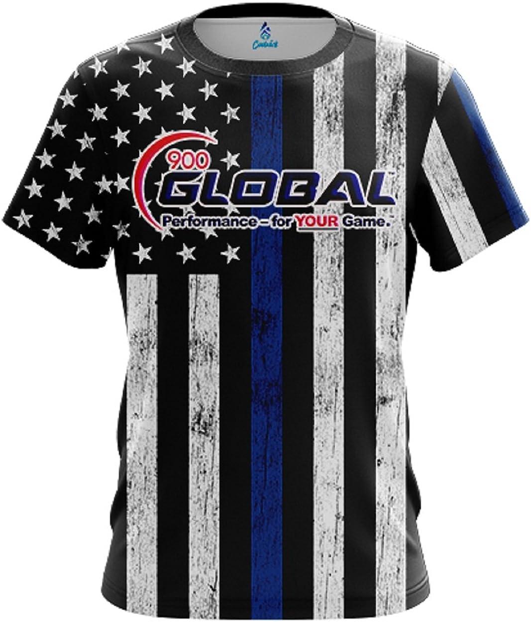 CoolWick 900 Global Mens Movie Reel Purple Bowling Jersey