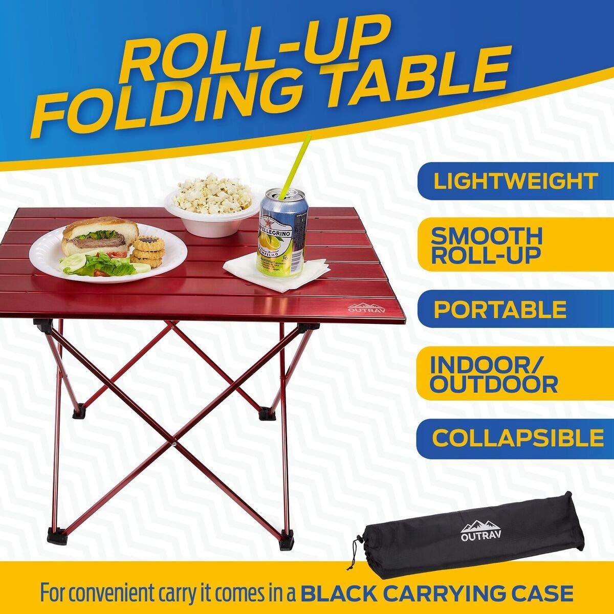 Amazon.com: Outrav - Mesa de picnic y acampada portátil ...