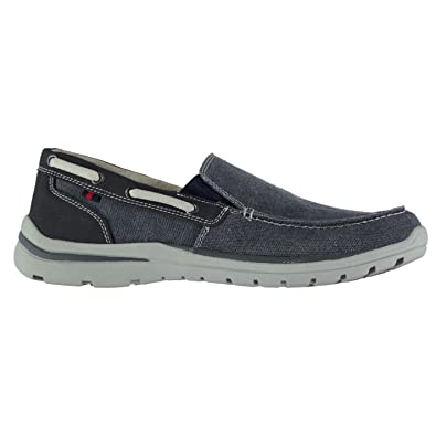 3306a4d582 Kangol Mens Brabo Slip On Shoes Everyday Canvas Memory Foam Comfortable Fit  Navy UK 11 (