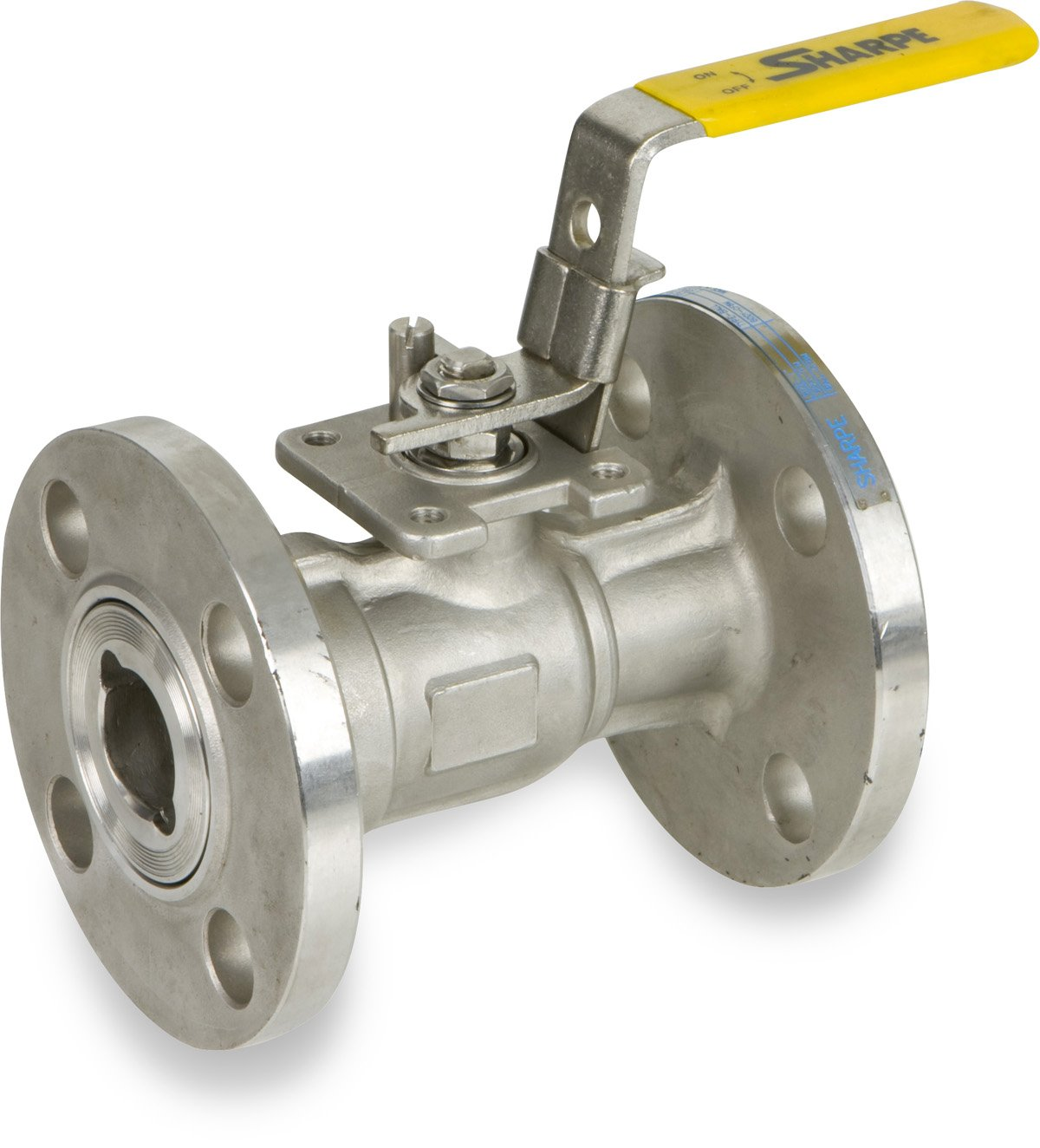 Unibody Lockable Lever Handle Sharpe Valves 54116 Series Stainless Steel 316 Ball Valve 6 Flanged 6 Flanged Smith-Cooper International SV54116M060 Class 150 Inline