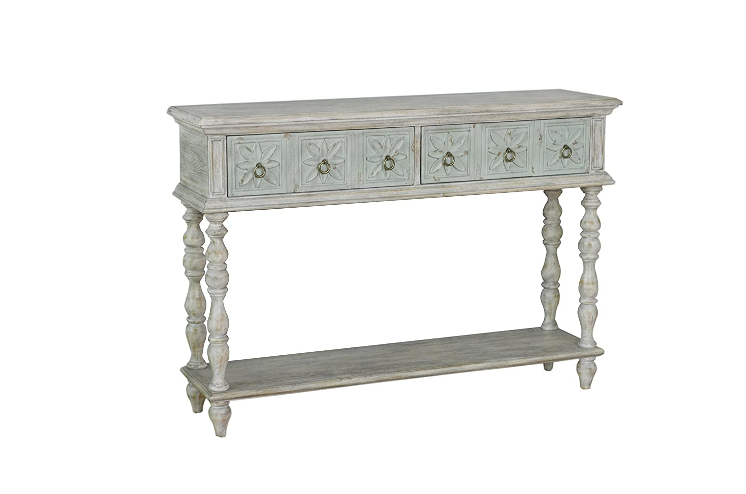 Pulaski Two Tone Drawer Console Table, White