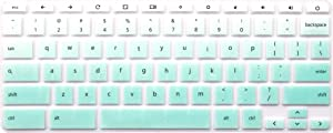 Ultra Thin Keyboard Cover Compatible HP Chromebook 14-ca 14-ak, HP Chromebook 14 G2 G3 G4 14-X Series, HP Chromebook 11 G2, G3, G4, G5, G6 EE 11.6 inch (NOT Fit HP Chromebook G5 EE) (Ombre Mint Green)