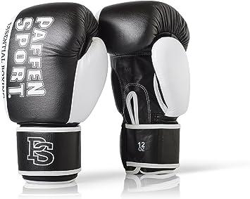 Paffen Sport «Essential» Gants de Boxe en Cuir véritable pour Le Sparring et l'entraînement pour l'entraînement en Boxe, Kickboxing, Muay Thaï, K1 et